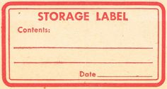 Knick of Time: Antique Graphics Wednesday - 8 Vintage Red Labels