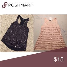 🎉 BUNDLE 🎉 EXPRESS SEQUIN RACERBACK TANK TOPS 🎉 BUNDLE 🎉 EXPRESS SEQUIN RACERBACK TANK TOPS. GREAT FOR NIGHTS OUT AND DATE NIGHTS. PLEASE SEE INDIVIDUAL POSTS FOR MORE DETAILS. SHIPS FAST FROM NYC!!! Express Tops Tank Tops