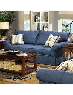 Bits Of This I Like In My Quest For Denim Sofa Family Room Makeover