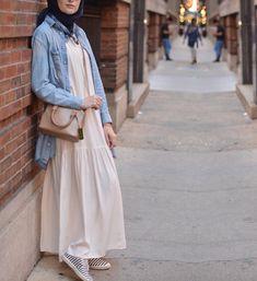 Modest Outfits Muslim, Muslim Dress, Modest Fashion, Fashion Dresses, Hijab Style Dress, Hijab Outfit, Denim Fashion, Hijab Fashion, Womens Fashion