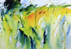 Spring Meadow watercolour by Adrian Homersham