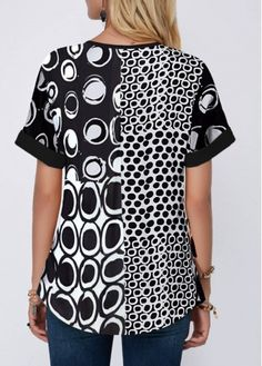 Shop Womens Fashion Tops, Blouses, T Shirts, Knitwear Online Stylish Tops For Women, Trendy Tops For Women, Couture, Printed Blouse, Short Sleeve Blouse, Trendy Fashion, Dresses With Sleeves, Clothes, Roll Neck