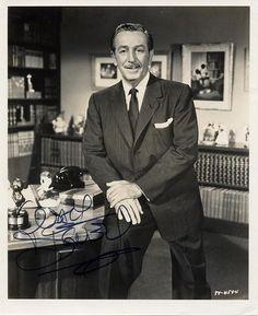 A great signed photo of Walt Disney! #Disney #DisneyPhotography #Studio2719