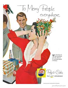 vintage everyday: Pepsi Advertising Campaigns of the 1950's