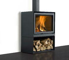 Home & DIY fireplace improvements fireplace ideas. Fireplace Hearth, Stove Fireplace, Fireplace Design, Fireplace Ideas, Wood Oven, Living Comedor, Log Burner, Interior Design Living Room, House Design
