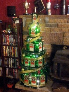 Our Jager bottle Christmas tree - Biohazard-Party.com 2012