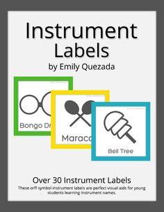 Mrs. Q's Music Blog: Mrs. Q's Resources: Instrument Labels