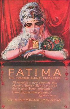 Fatima - The Turkish Blend Cigarette (1928).