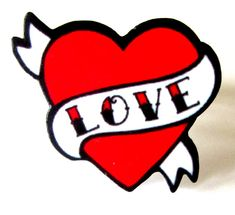 Tattoo Style Love Heart with Scroll Banner Ring by Dolly Cool -- inspiration