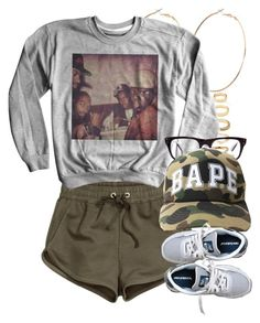 """8/1/15"" by jasmineharper ❤ liked on Polyvore featuring River Island, Forever 21, H&M, Ray-Ban and New Balance"