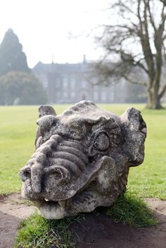 WALLINGTON Stone dragon heads at Wallington Hall in Northumberland. Visited here on many occasions. Northern England, North East England, National Parks, National Trust, Tourist Information, England And Scotland, Scotland Travel, Cumbria, Newcastle