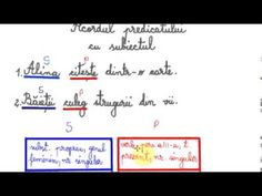 Acordul predicatului cu subiectul - Lecție de limba română - YouTube Boarding Pass, Youtube, Youtubers, Youtube Movies