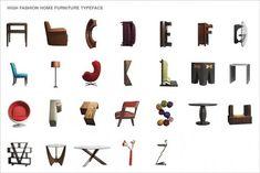 Modern furniture alphabet