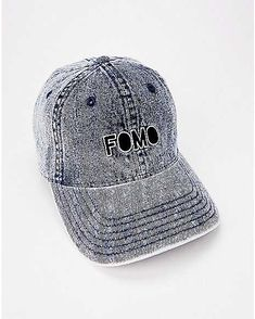 Denim FOMO Dad Hat. Suffering from FOMO  Let everyone know! This stylish  denim ee25e1acaa86