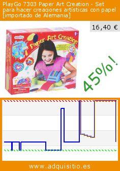 PlayGo 7303 Paper Art Creation - Set para hacer creaciones artísticas con papel [importado de Alemania] (Juguete). Baja 45%! Precio actual 16,40 €, el precio anterior fue de 29,59 €. http://www.adquisitio.es/playgo/7303-paper-art-creation
