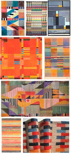 """Gunta Stolzl Bauhaus Weaver and Textile Designer I had to pin this one! One of sections to complete within my project is """"Looking at how repeat pattern is used within the art movement historically and culturally"""" Bauhaus was a classic art movement. Art Bauhaus, Bauhaus Textiles, Design Bauhaus, Weaving Textiles, Tapestry Weaving, Textile Patterns, Textile Art, Architecture Bauhaus, Bauhaus Interior"""
