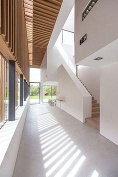 timber wood russwood thermal house concrete glass glazing darras hall ponteland sutherland hussey harris #HotelExteriorDesign