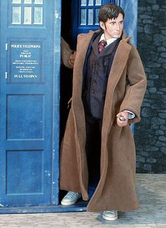 Dr Who: The Tenth Doctor (David Tennant) - my barbies wanna hang out with him (I actually have a wooden tardis for them that my brother made when we were kids. LOL!)