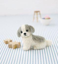 DIY handmade Wool felt Kit Shih Tzu  Japanese by 1127handcrafter