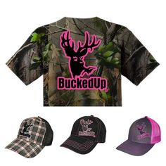 All of this and more available at BuckedUpApparel.com  #BuckedUp