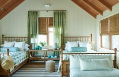 Mark Sikes - Marin County Guest Bedroom with Twin Beds