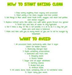 Clean Eating beginners guide! Just what I need! I'm surprised at how many of these my family already does!
