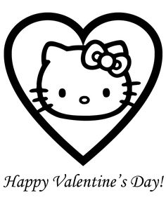 hello kitty valentine coloring pages free printable coloring