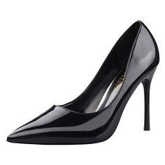 14.21$  Buy here - High Heels Women Pumps Stiletto Shoes Heels Black Fashion Shoes Women Party Wedding Shoes  #magazineonlinebeautiful