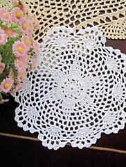 20pcs/Lot+20cm+Round+Handmade+Crochet+Embroidery+Table+Mat+Wedding+Decoration+–+USD+$+49.98