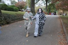 Around here creepy clowns must be escorted by the US Military.
