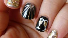 Ring in 2015 with gorgeous & glam New Year's Eve nail art
