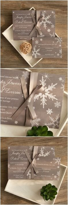 Winter wonderland snowflake invitations