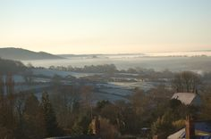 The view over Blackmore Vale from Updown Cottage in Shaftesbury