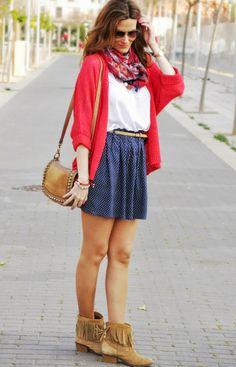 conPasoChic: Polka dot skirt