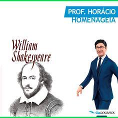 """#ProfHoraciohomenageia Willian Shakespeare! S2  E quem nunca ouviu falar dele ou de suas obras?  No dia 23 de abril de 1564 nascia o grande mestre! Shakespeare foi poeta e dramaturgo.  O inglês era tido como o maior escritor do seu idioma e o mais influente dramaturgo do mundo.   Entre suas obras mais conhecidas estão """"Romeu e Julieta"""" e """"Hamlet"""". ;-) :-D   """"Ser ou não ser, eis a questão!"""".  Clique aqui e confira uma vitrine especial! -> http://profhorac.io/1o"""