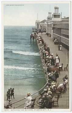 A beautiful day on the boardwalk at Atlantic City, NJ. What a wonderful picture of the past.