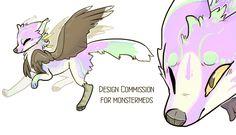 Design Commission for monstermeds by lupisvulpes.deviantart.com on @DeviantArt