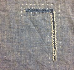 By darned and dusted i love beautiful stitched mending darning makedoandmend by hercio dias Sewing Hacks, Sewing Tutorials, Sewing Crafts, Sewing Stitches, Sewing Patterns, Boro Stitching, Bordados E Cia, Visible Mending, Make Do And Mend