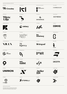 Selected logotypes, 2009–2013 on Behance