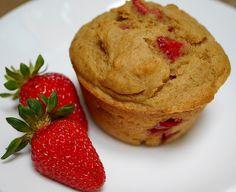Vegan whole wheat strawberry muffins