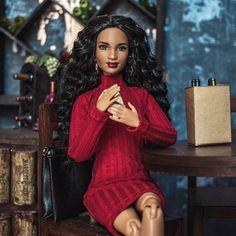 Doll Repaint Tutorial, Black Barbie, Fashion Dolls, Natural Hair Styles, Royalty, Hollywood, Sweaters, Wedding, Beautiful
