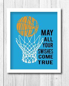 Personalized Sport Print Kids Decor Basketball Print  by Woofworld, $18.00  @Michele Morales Morales Bustamante-Burnett