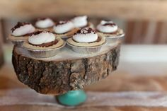 Wooden Cake Stand 7-12 Wooden Slab Wedding by TheBlushingBride89