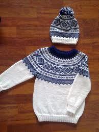 hvit mariusgenser - Google-søk Knit Baby Sweaters, Boys Sweaters, Men Sweater, Sweater Knitting Patterns, Knit Patterns, Fair Isle Knitting, Knitting For Kids, Crochet Projects, Knitwear