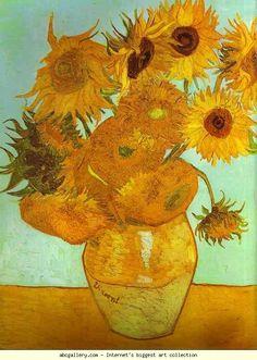 Vincent van Gogh. Twelve Sunflowers. August 1888. Oil on canvas. Bayerische Staatsgemäldesammlungen, Neue Pinakothek, Munich, Germary.