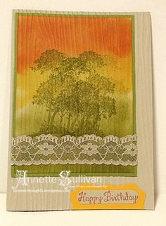 Lavender Thoughts | Annette Sullivan | Stampin' Up! Serene Silhouettes Crushed Tango Olive Sand