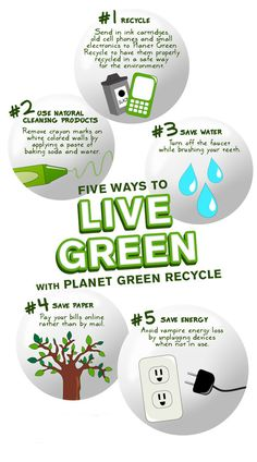 5 Ways to Live Green. #Culturagreen #GreenLiving