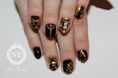 dark red miexd with model and a beautiful nail jewlry