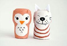 DIY... ¡Nos encantan estos sencillos personajes hechos con corchos de botellas! Podéis ver el tutorial en Kids Activities Blog