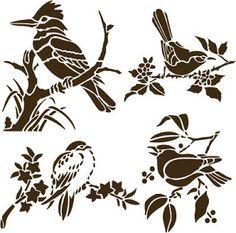 Бесплатные СВГ Домашний декоративный трафарет птиц